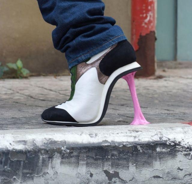 Chewing gum sidewalk